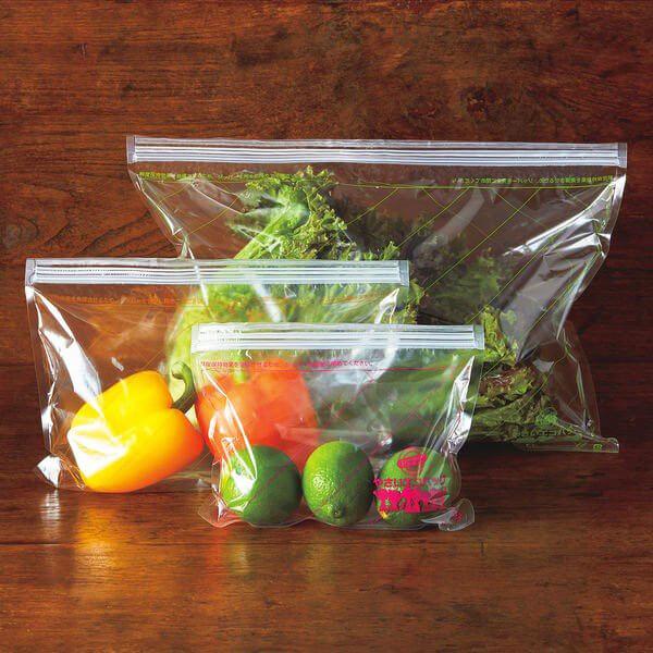 野菜の鮮度が長く持つ 繰り返し使える「やさいエコバッグ」