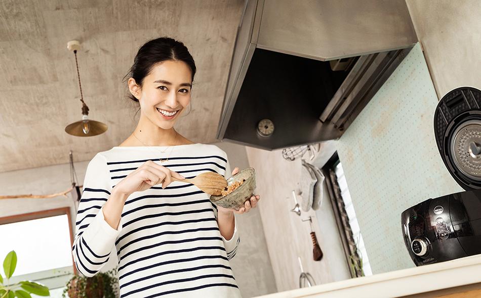 神山まりあさんの、ほんわか幸せレシピ【寝かせてモチモチ! 玄米の簡単一汁一菜】の写真