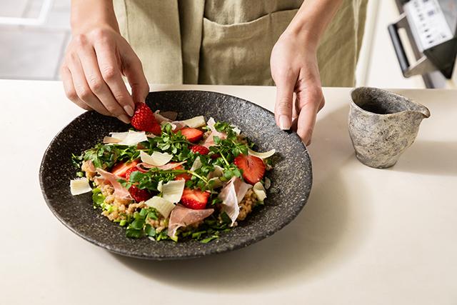 モチモチ食感のちらし寿司風発酵サラダ