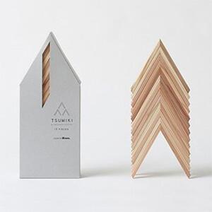 FSC認証の木材使用。建築家 隈研吾氏による積み木
