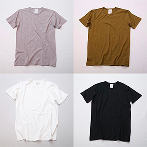 GOTS認証のコットン使用。着るほど肌になじむTシャツ