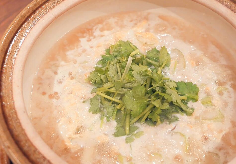 ごはん+セロリで「アジアン雑炊」