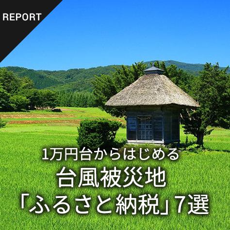 1万円台からはじめる 台風被災地「ふるさと納税」7選