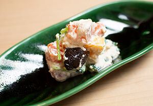 紅鮭サーモンの白和え