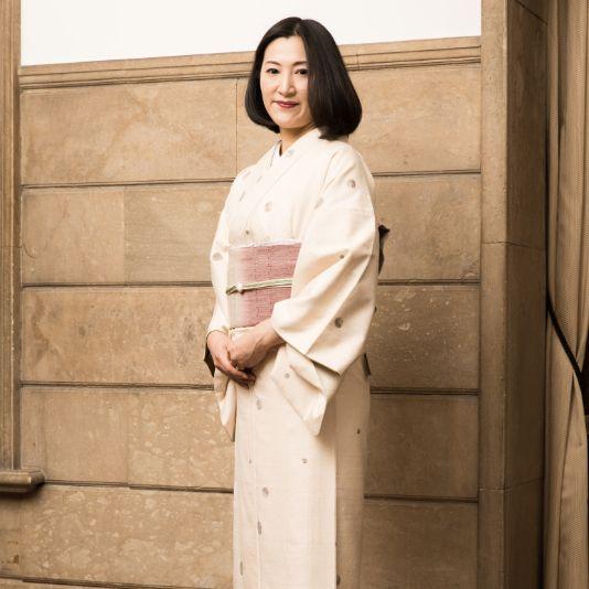 国産の結城紬の振袖帯は伝統工芸