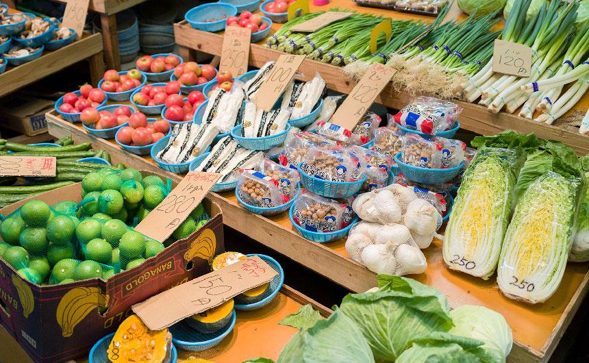 野菜が並んでいる写真