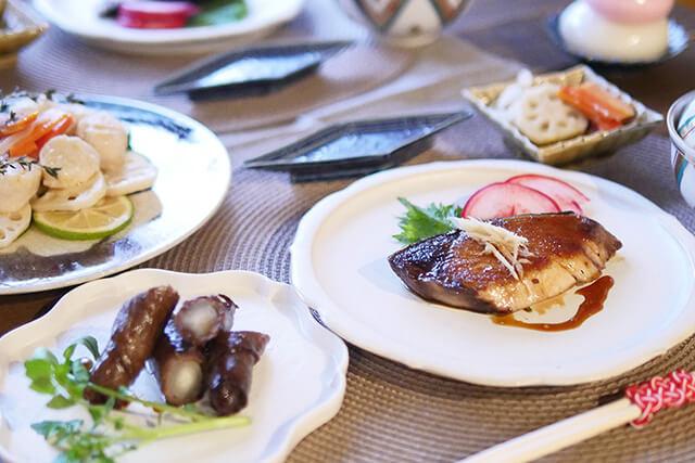 オーガニックで彩るおせち料理 ブリやホタテのメインレシピ3品