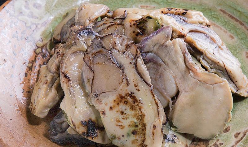 牡蠣3種セット(潮煮、炙り、燻り)