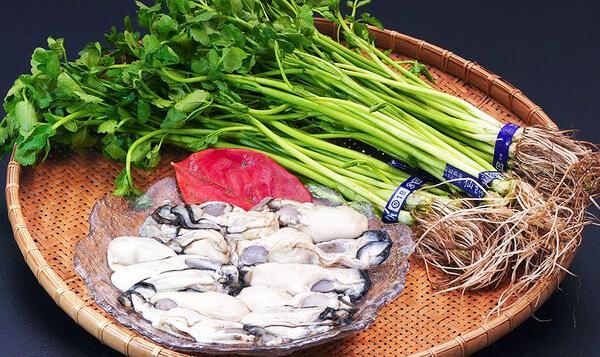 牡蠣付きせり鍋セット