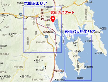 宿泊施設(気仙沼周辺)の地図