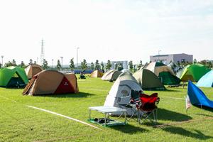 写真:キャンプビレッジの様子