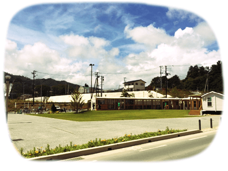 写真:女川駅前の風景
