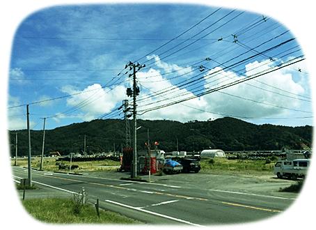 写真:旧荻浜支所跡地付近の風景