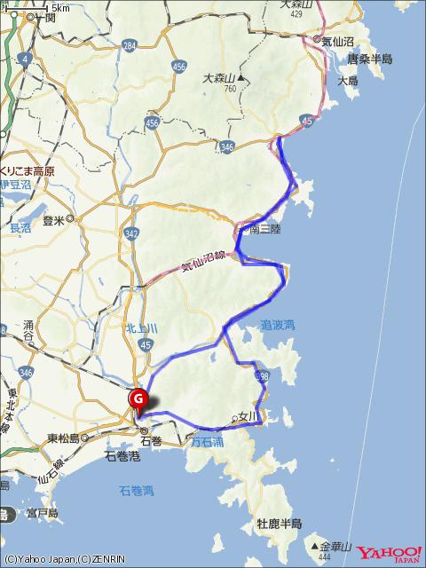 南三陸フォンドコースマップの画像