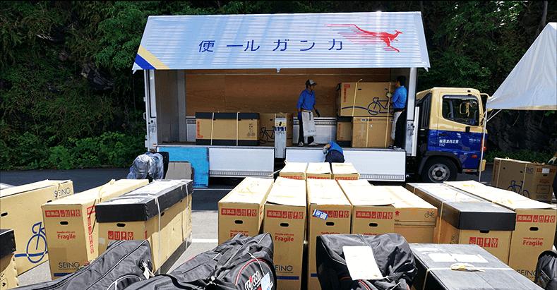 カンガルー自転車イベント便イメージ写真