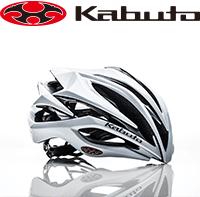 株式会社オージーケーカブトのロゴとサイクリングヘルメットの写真