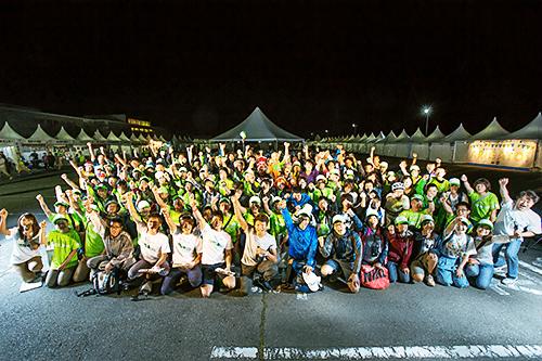 写真:過去に実施されたツール・ド・東北の前夜祭の集合写真