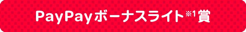 PayPayボーナスライト賞