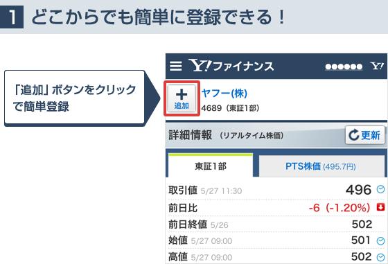 【1】どこからでも簡単に登録できる! 「追加」ボタンをクリックで簡単登録