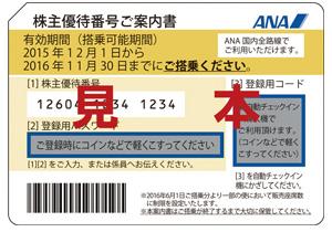 ANAホールディングスの株主優待
