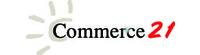 株式会社コマースニジュウイチ(略称 コマース21)のロゴ