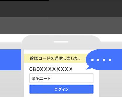 step2 SMSに届いた確認コードを入力