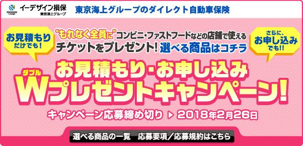 自動車保険キャンペーン(イーデザイン損保)