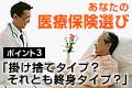 あなたの医療保険選び ~ポイント3「掛け捨てタイプ? それとも終身タイプ?」~