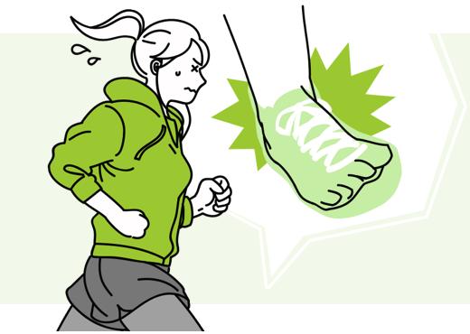 ジョギング中に、右足首を捻挫して10日間通院…