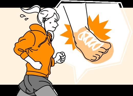 ジョギング中に、右足首を骨折して入院した…