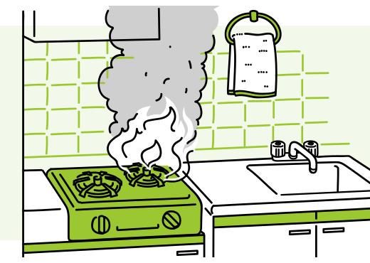 ガスコンロが爆発し火災が発生。借家に備え付けてあった家具に火が飛び移り、家具を焼失してしまった…