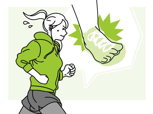 ジョギング中に捻挫…