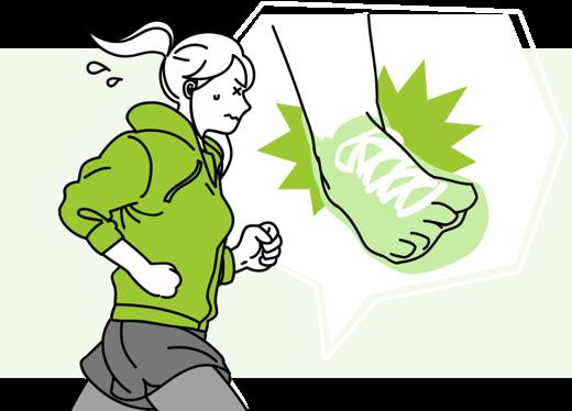 ジョギング中に、右足首を捻挫…