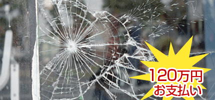 子供が友達と近所の会社作業場敷地に入り、資材置き場の窓ガラス等を割ってしまった。