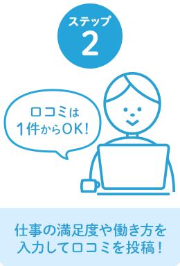 ステップ2 仕事の満足度や働き方を入力して口コミを投稿!