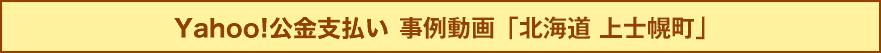 Yahoo!公金支払い 事例動画「北海道 上士幌町」
