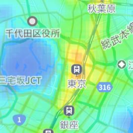 混雑レーダー