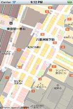 地下街地図の表示例