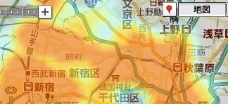 urlで指定した店舗の集積度をヒートマップで表示