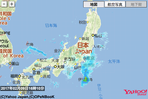 雨雲レーダーサンプル画像01