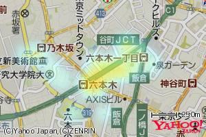 YDFをヒートマップで表示した地図