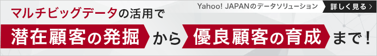 マルチビッグデータの活用で潜在顧客の発掘から優良顧客の育成まで! Yahoo! JAPANのデータソリューションを詳しく見る