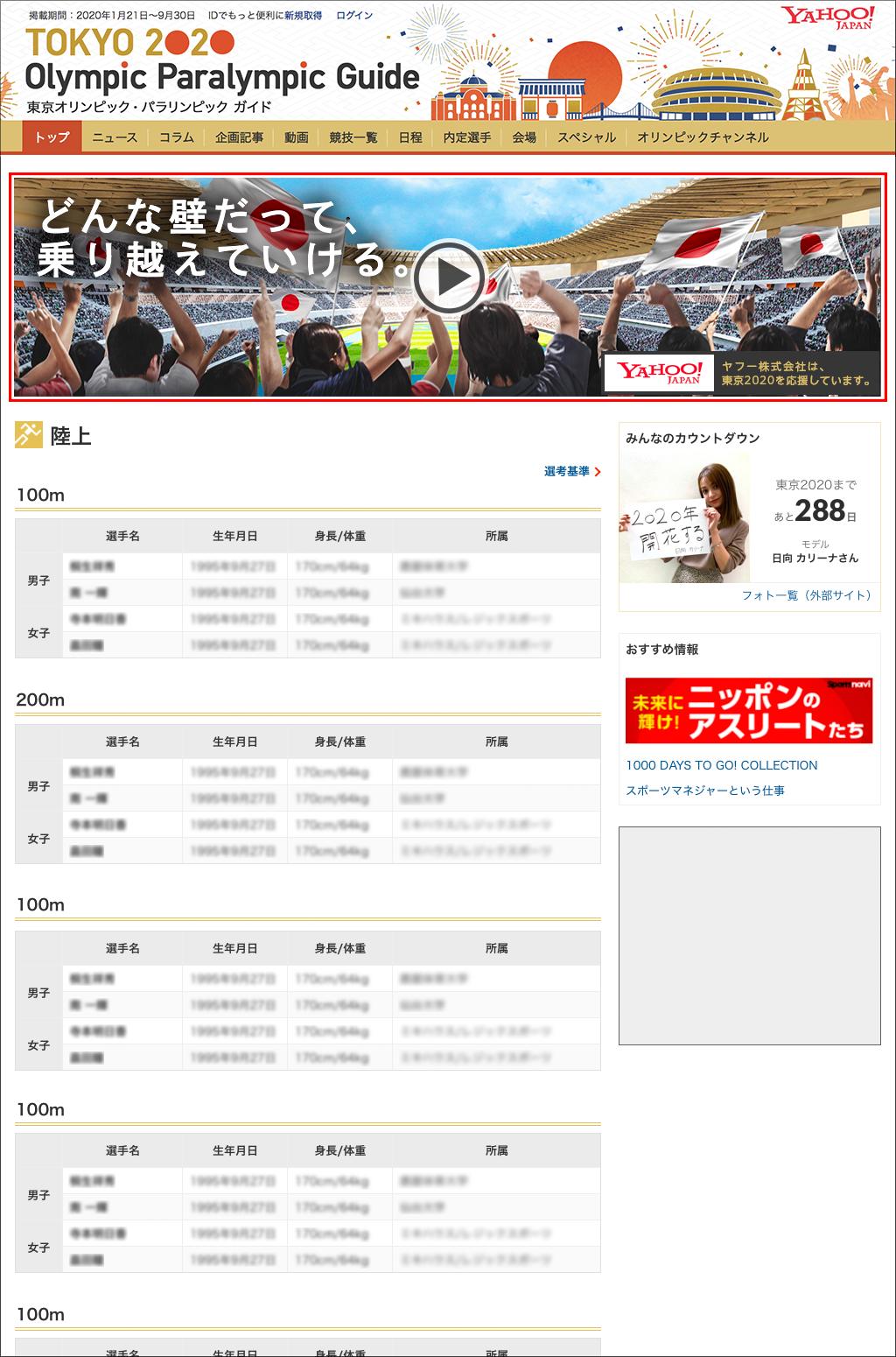 Yahoo! JAPAN 東京2020報道特集 パノラマ PC