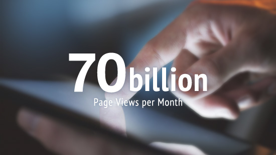 Yahoo! JAPAN also attracts nearly 65 billion page views per month. Source: Yahoo! JAPAN Financial Results Briefing Material(2015 First Quarter Settlement)