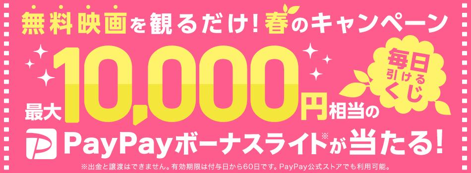 無料映画を観て最大10,000円相当のPayPayボーナスライトが当たる!