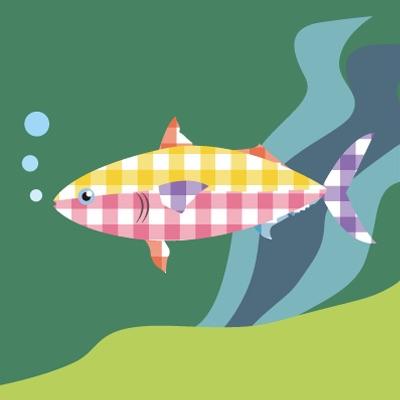 【A】チェック柄の魚