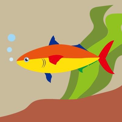 【D】カラフルな魚