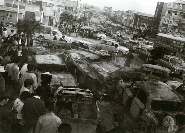 1970年12月20日朝、騒動の現場となった軍用道路24号(現330号線)