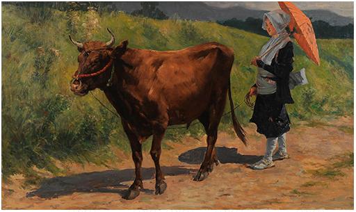 《牛追い》