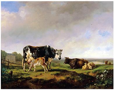 《牛のいる風景》